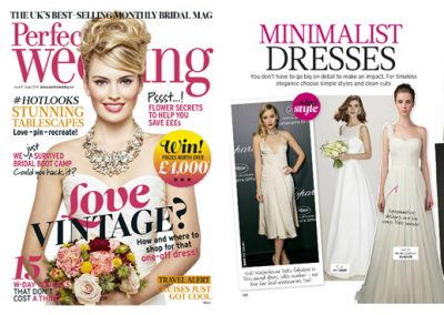 PERFECT WEDDING UK magazine featured WINNIE COUTURE style Haley.